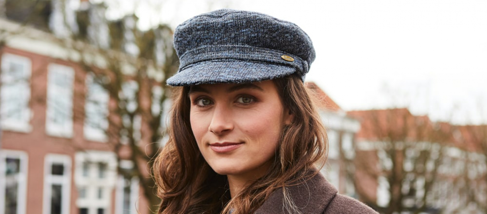 Bronte- shipper- sailor winter cap- blue grey